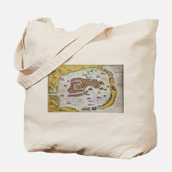 Vintage Map of Venice (1649) Tote Bag
