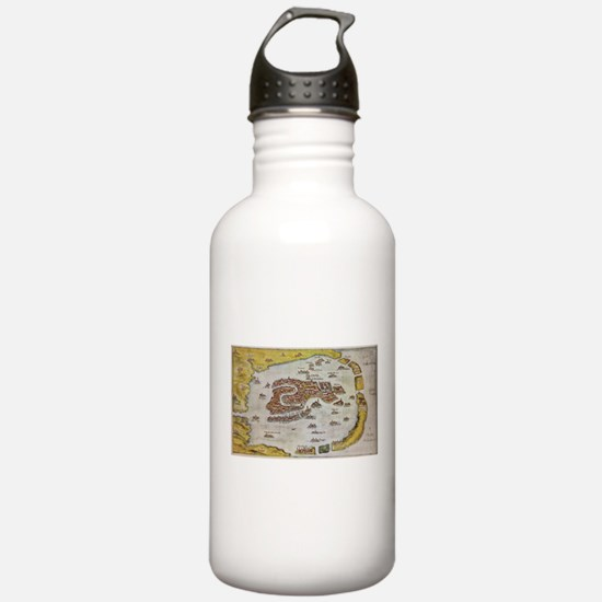 Vintage Map of Venice Water Bottle