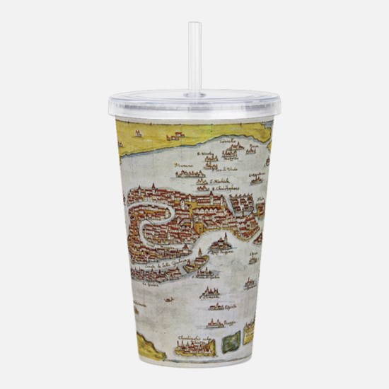 Vintage Map of Venice Acrylic Double-wall Tumbler