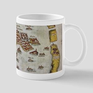 Vintage Map of Venice (1649) Mugs