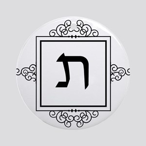 Taf Hebrew monogram Ornament (Round)