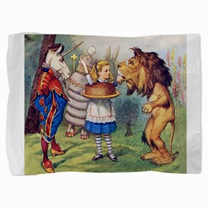 Alice, the Lion and the Unicorn Pillow Sham
