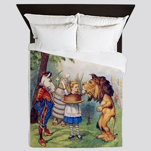 Alice, the Lion and the Unicorn Queen Duvet