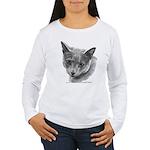 Russian Blue Cat Women's Long Sleeve T-Shirt