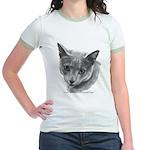 Russian Blue Cat Jr. Ringer T-Shirt
