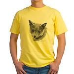 Russian Blue Cat Yellow T-Shirt