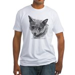 Russian Blue Cat Fitted T-Shirt