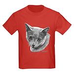 Russian Blue Cat Kids Dark T-Shirt