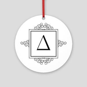 Delta Greek monogram Ornament (Round)