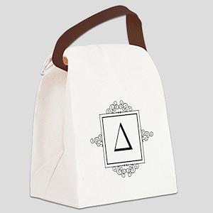 Delta Greek monogram Canvas Lunch Bag