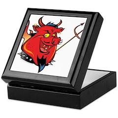 Red Pig Keepsake Box