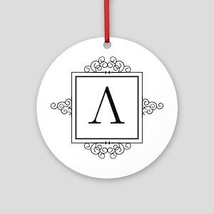 Lambda Greek monogram Ornament (Round)
