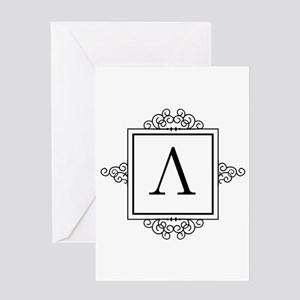 Ancient greek greeting cards cafepress lambda greek monogram greeting cards m4hsunfo Choice Image