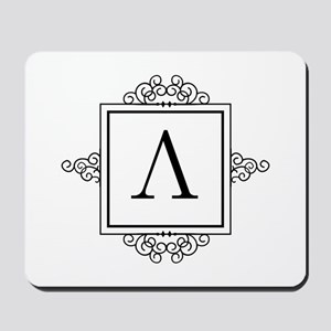 Lambda Greek monogram Mousepad
