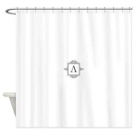 Lambda Greek Monogram Shower Curtain