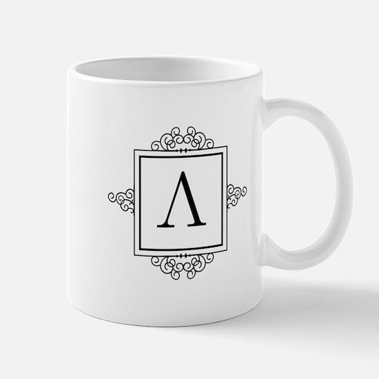 Lambda Greek monogram Mugs