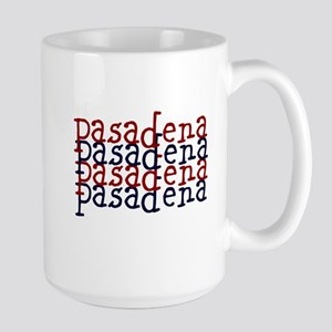 Red & Blue Pasadena Large Mug Mugs