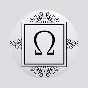 Omega Greek monogram Ornament (Round)