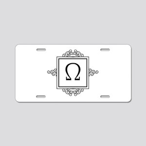 Omega Greek monogram Aluminum License Plate