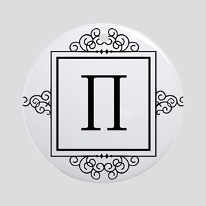 Pi Greek monogram Ornament (Round)