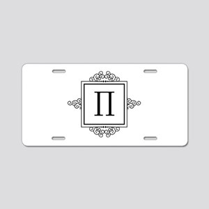 Pi Greek monogram Aluminum License Plate