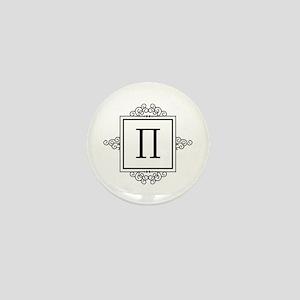 Pi Greek monogram Mini Button