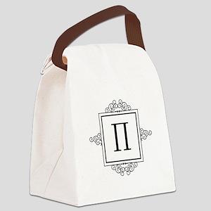 Pi Greek monogram Canvas Lunch Bag