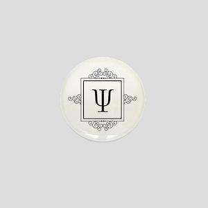 Psi Greek monogram Mini Button
