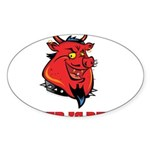 Red Pig Sticker (Oval)