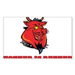 Red Pig Sticker (Rectangle)