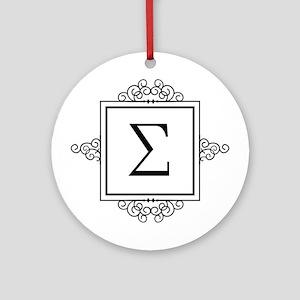Sigma Greek monogram Ornament (Round)