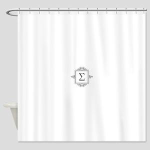 Sigma Greek monogram Shower Curtain