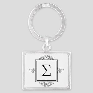 Sigma Greek monogram Keychains