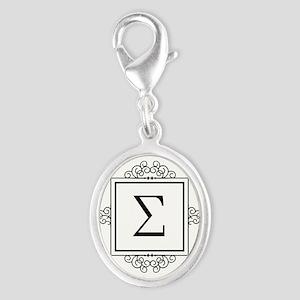 Sigma Greek monogram Charms