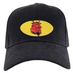 Red Pig Black Cap with Patch
