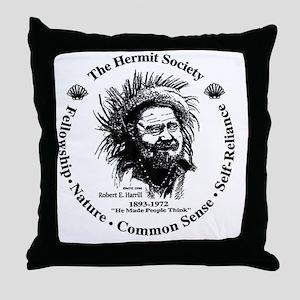 Hermit Society Throw Pillow