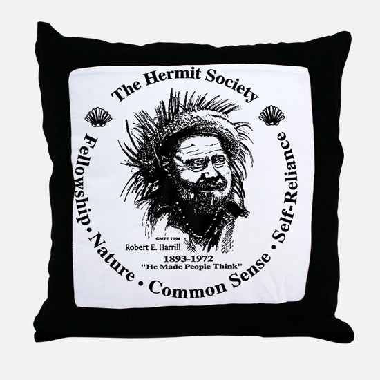 Hermit Society Throw Pillow