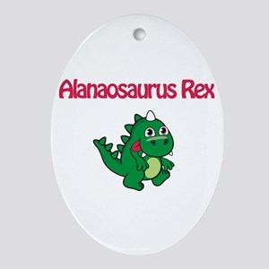 Alanaosaurus Rex Oval Ornament