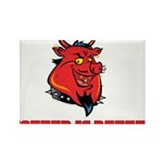 Red Pig Rectangle Magnet (100 pack)