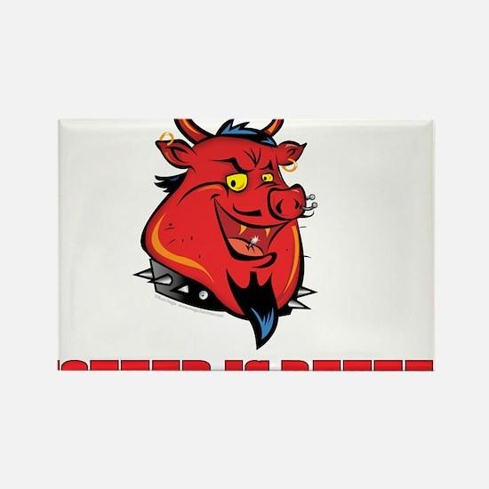 Red Pig Rectangle Magnet (10 pack)
