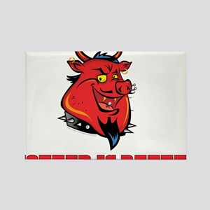 Red Pig Rectangle Magnet