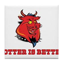 Red Pig Tile Coaster