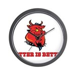Red Pig Wall Clock
