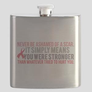 Never be Ashamed of a Scar Flask