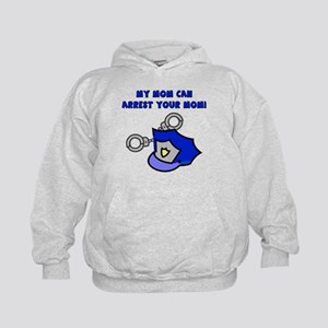 My Mom Can Arrest Your Mom Kids Hoodie