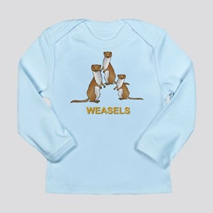 Weasels W Text Infant Long Sleeve T-Shirt