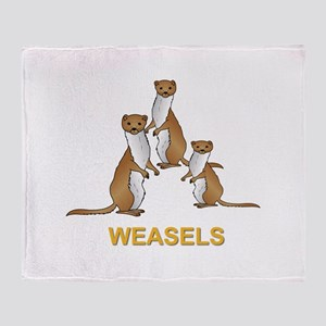 Weasels w Text Throw Blanket