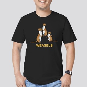 Weasels W Text Men's Fitted T-Shirt (dark)