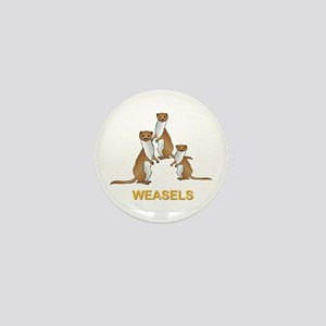 Weasels W Text Mini Button