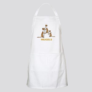 Weasels W Text Apron